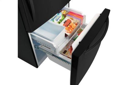 "24 cu. ft. Large Capacity 33"" Wide Bottom Freezer Refrigerator"