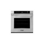 """27"""" Single Wall Oven, Dacormatch With Pro Style Handle (End Caps In Stainless Steel)"""