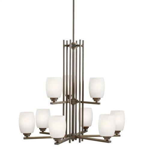 Eileen 9 Light Chandelier with LED Bulbs Olde Bronze®