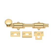 "8"" Surface Bolt, HD - PVD Polished Brass"