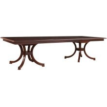 Grooved Top Exeter Double Pedestal Table