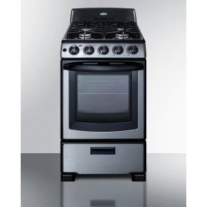 "Summit20"" Wide Gas Range In Stainless Steel With Electronic Ignition, Oven Window, and Sealed Burners; Replaces Pro200ss"