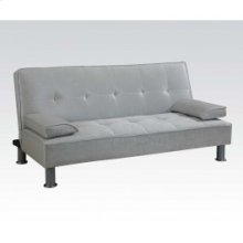 Silver Pu Adjustable Sofa