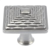 Mandalay Square Knob 1 1/4 Inch - Brushed Nickel