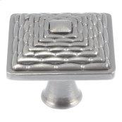Mandalay Square Knob 1 1/4 Inch - Brushed Nickel