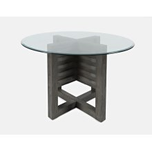 Altamonte Round Dining Base -brushed Grey