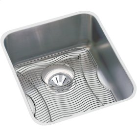 "Elkay Lustertone Classic Stainless Steel 18-1/2"" x 18-1/2"" x 7-7/8"", Single Bowl Undermount Sink Kit"