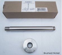 """AB8RC 8"""" Round Ceiling Mounted Brushed Nickel Shower Arm for Rain Shower Heads"""
