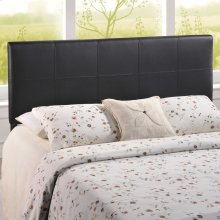 Oliver Queen Upholstered Vinyl Headboard in Black