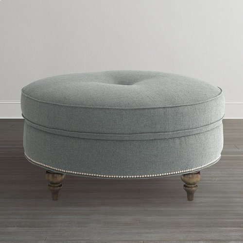 Custom Ottoman Round Ottoman