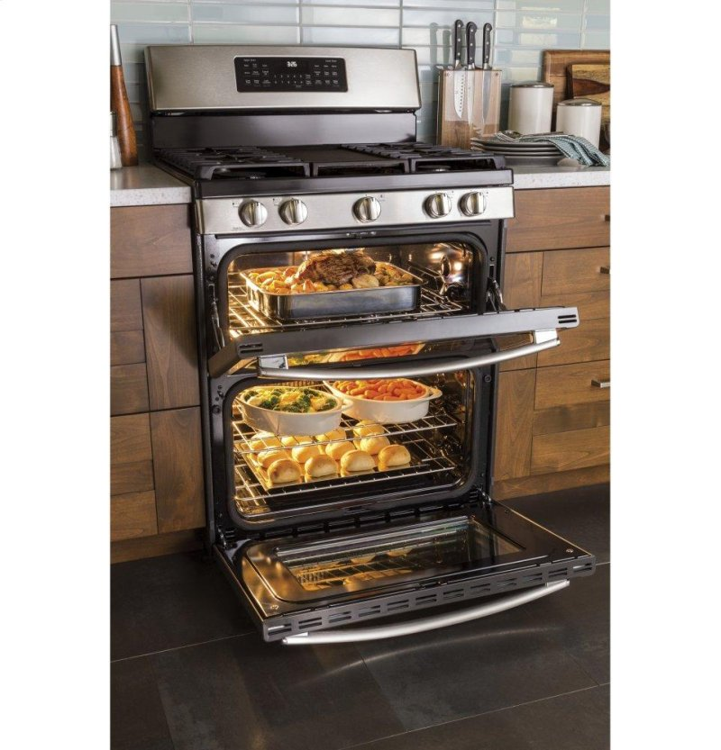 Ge 30 Free Standing Gas Double Oven Convection Range