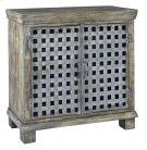 Bengal Manor Metal Lattice Work and Mango Wood Cabinet Product Image