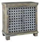 Bengal Manor Metal Lattice Work and Mango Wood Cabinet Product Image