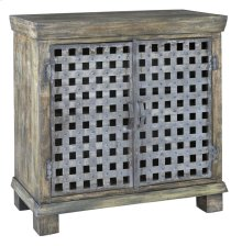 Bengal Manor Metal Lattice Work and Mango Wood Cabinet