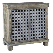 Bengal Manor Metal Lattice Work and Mango Wood Cabinet