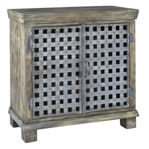 CRESTVIEW COLLECTIONSBengal Manor Metal Lattice Work and Mango Wood Cabinet