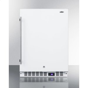 SummitFrost-free Built-in Undercounter All-freezer for Residential or Commercial Use, With Digital Thermostat, Lock, and White Exterior Finish