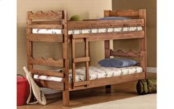 Saddlebrook Scalloped Twin over Twin Bunk Bed with Brackets