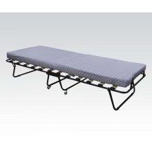 Folding bed w/black frame