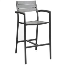 Maine Outdoor Patio Bar Stool in Brown Gray