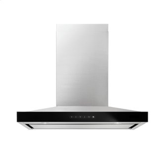"""Lustre Stainless 30"""" Pyramid Style Canopy Wall Hood, Stainless Steel"""