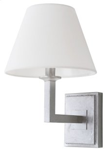 Pauline Wall Sconce - Silver Shade Color: Off-White