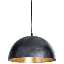 Small Sigmund Pendant (black and Gold)