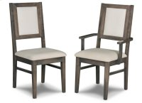 Contempo Padded Back Side Chair in Fabric/Bonded Leather Product Image