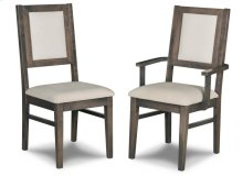 Contempo Padded Back Side Chair in Fabric/Bonded Leather