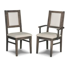 Contempo Padded Back Side Chair in Fabric