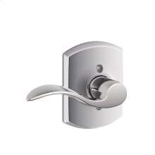 Accent Lever with Greenwich trim Non-turning Lock - Bright Chrome