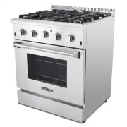 30 Inch Professional Gas Range In Stainless Steel Product Image