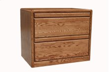 "O-C650 Modern Oak 2-Drawer Locking Lateral File Cabinet, 36""W x 20""D x 30""H"
