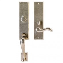 """Rectangular Entry Set - 3 1/2"""" x 19 5/8"""" White Bronze Brushed"""