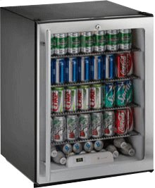 """Stainless Glass door, right-hand ADA Series /24"""" ADA Height Compliant Glass Door Refrigerator / Single Zone Convection Cooling System"""