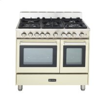 "Antique White (Bisque) 36"" Gas Range with Double Oven"