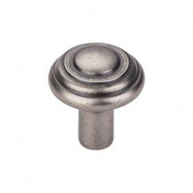 Aspen Button Knob 1 1/4 Inch - Silicon Bronze Light