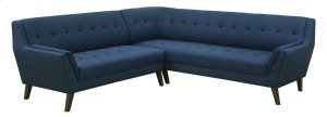 2pc Sectional-lsf Sofa-rsf Corner Sofa-navy