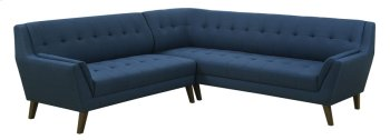 2pc Sectional-lsf Sofa-rsf Corner Sofa-navy Product Image