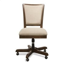 Vogue Upholstered Desk Chair Plymouth Brown Oak finish