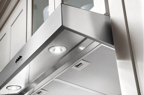 "24"" Range Hood with Dishwasher-Safe Full-Width Grease Filters"