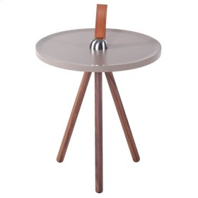 Kai KD End Table, Gray/Walnut