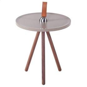 Kai KD End Table, Gray/Walnut