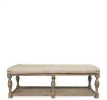 Juniper 54-Inch Upholstered Dining Bench Natural finish
