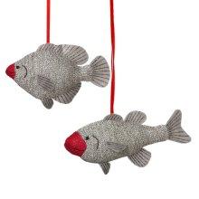 Sock Fish Ornament (2 asstd)