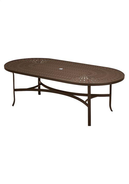 """La'Stratta 84"""" x 42"""" Oval Umbrella Table"""