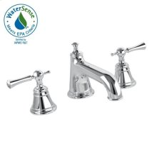 Low Spout Widespread Lavatory Set - Lever Handle - Polished Chrome