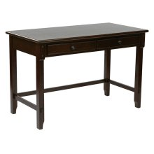 "Devonshire 47"" Desk In Cabinet Finish With Dual Storage Drawers & Solid Wood Legs"