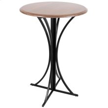 Boro Bar Table - Black Metal, Walnut Wood