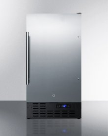 """ADA Compliant 18"""" Wide Frost-free Freezer Built-in or Freestanding Use, With Ss Door, Black Cabinet, Lock, and Digital Thermostat"""